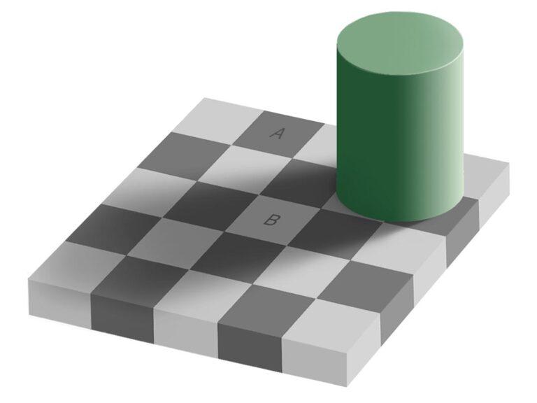 チェッカーシャドウ錯視の例